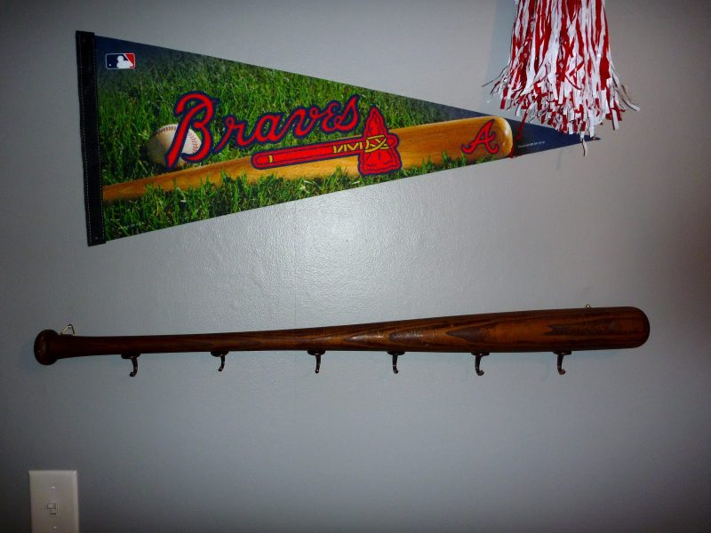 hat rack ideas for baseball lovers