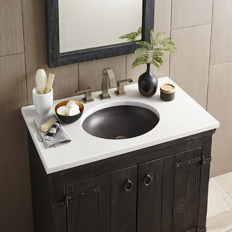 bathroom vanity with tops made of wood