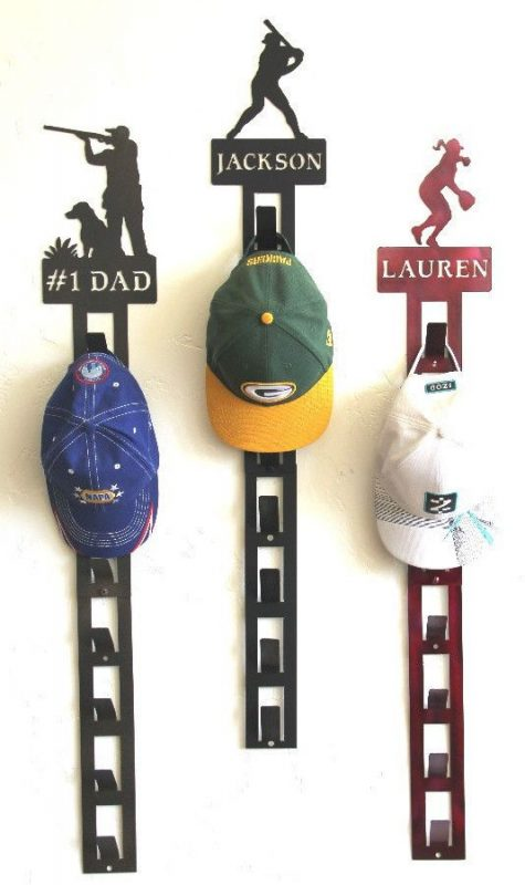 hat rack ideas with different lines