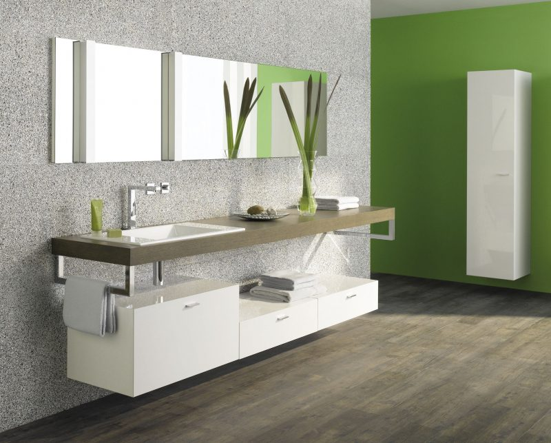 bathroom vanities single sink made of particle board
