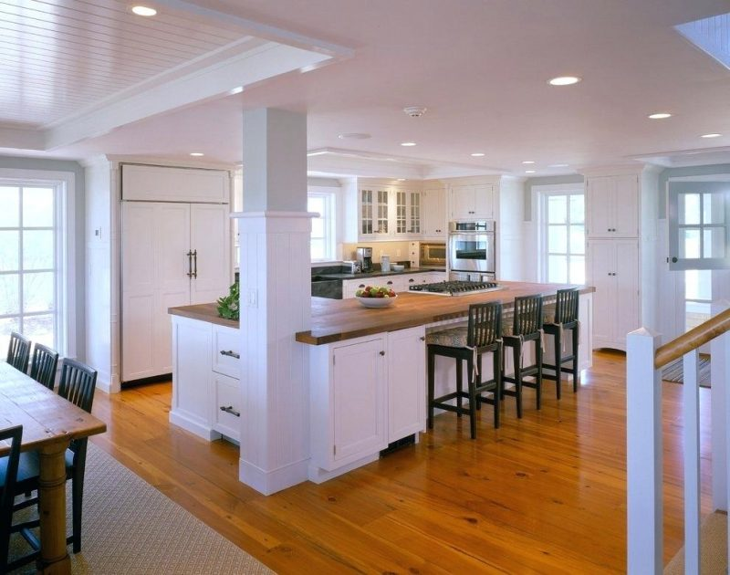 large space kitchen island layout