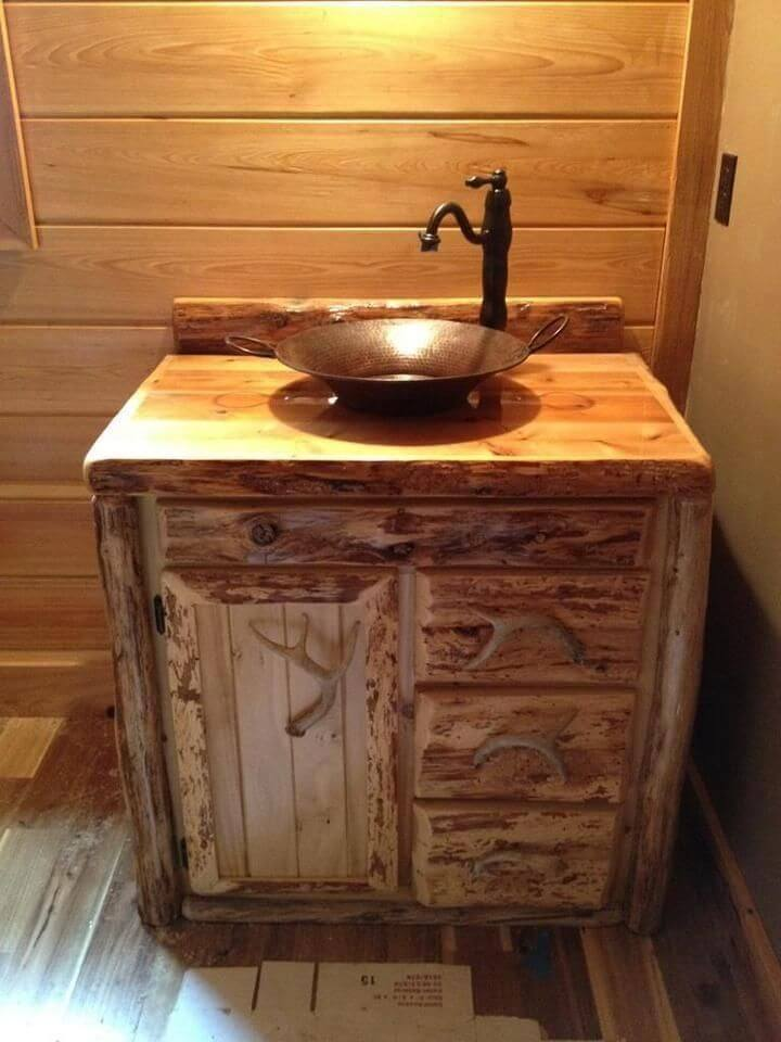 sturdy wood bathroom vanities single sink