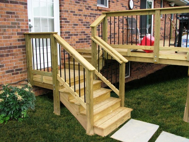 simple deck rail ideas