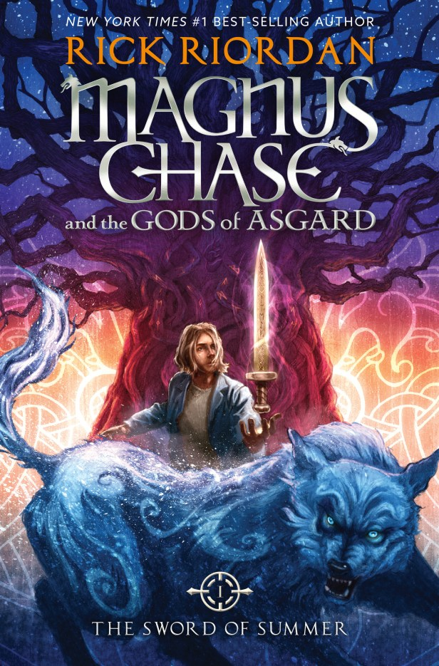 Magnus Chase and the Gods of Asgard, Book 1: The Sword of Summer, by Rick Riordan (Disney-Hyperion, 2015)