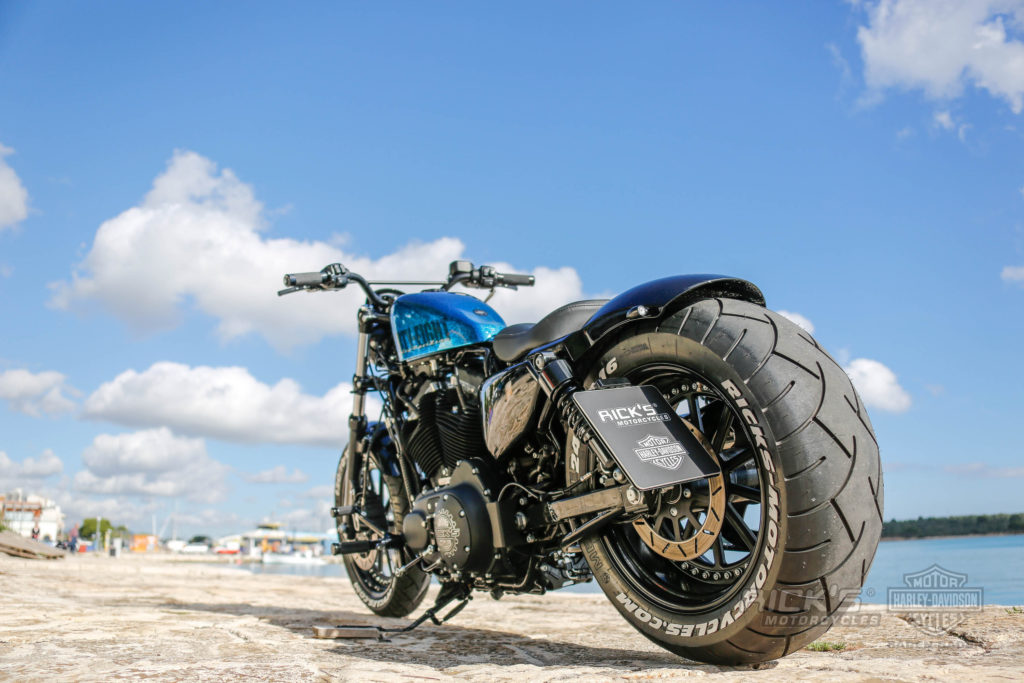 fat ass sportster 48 extra wide with 240 tire rick s motorcycles harley davidson baden baden