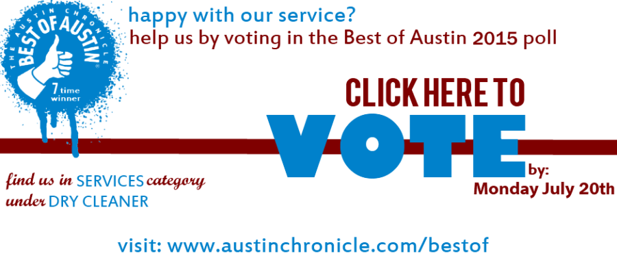 best austin dry cleaner 2015 - vote