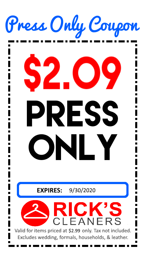 press only coupon
