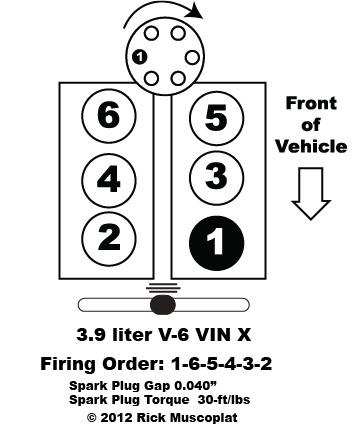 39 liter v6 chrysler firing order — ricks free auto repair
