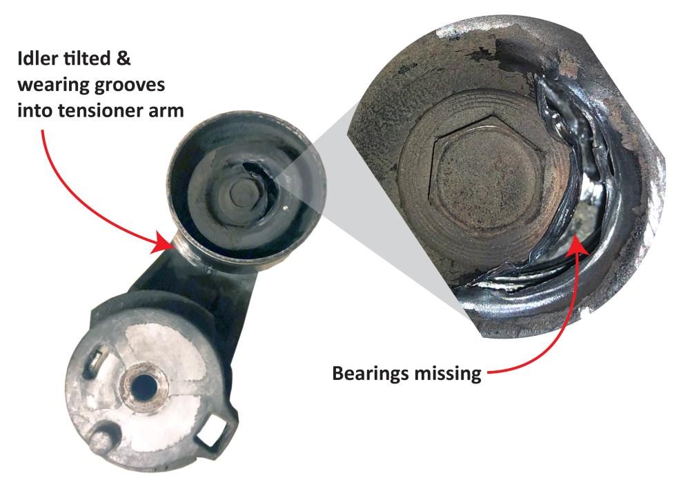 medium resolution of diagnose a belt tensioner