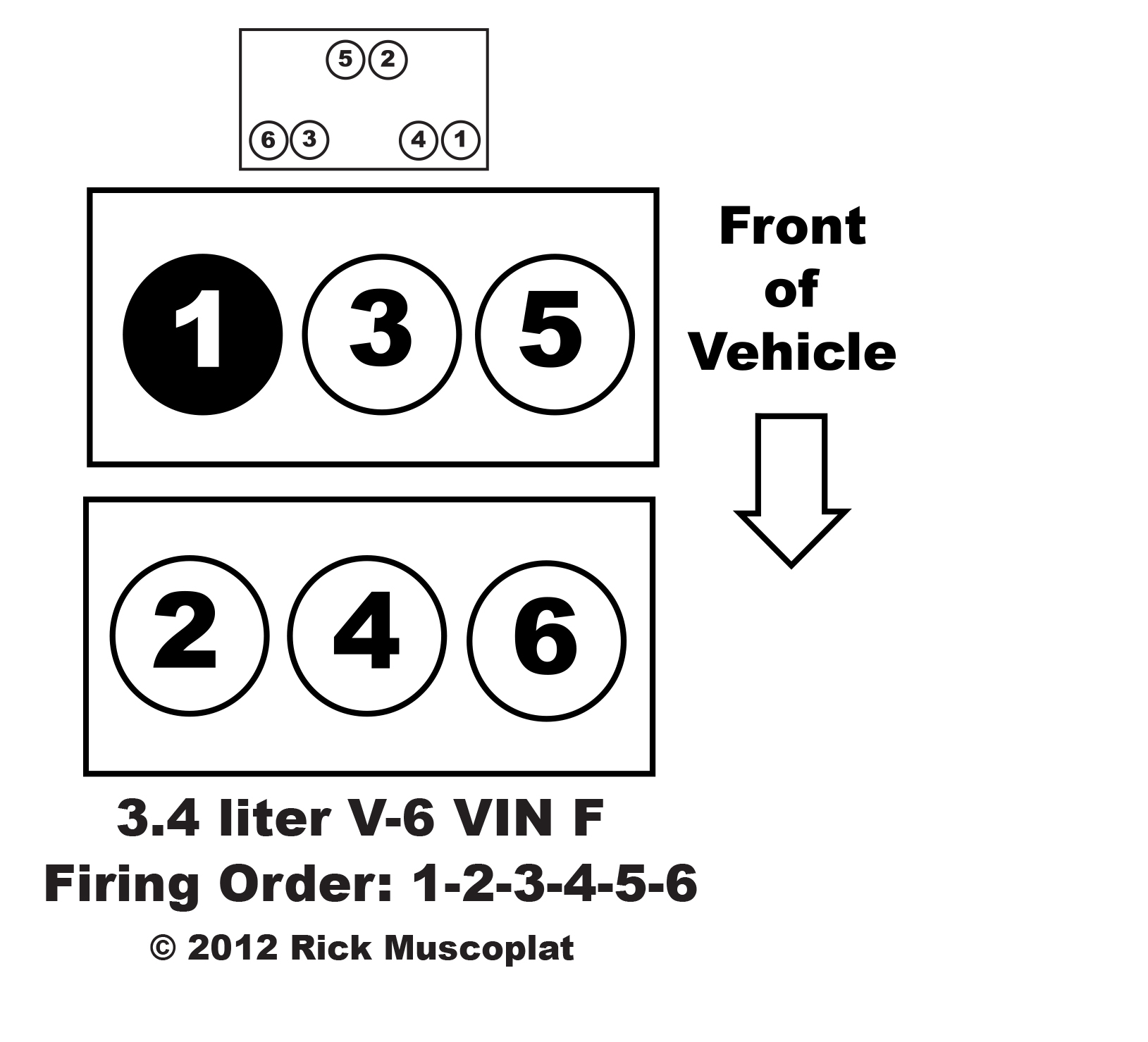 3.4 V-6 VIN F firing order — Ricks Free Auto Repair Advice