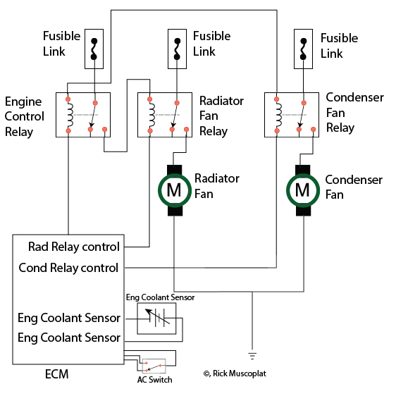 how to wire a toggle switch to a radiator fan
