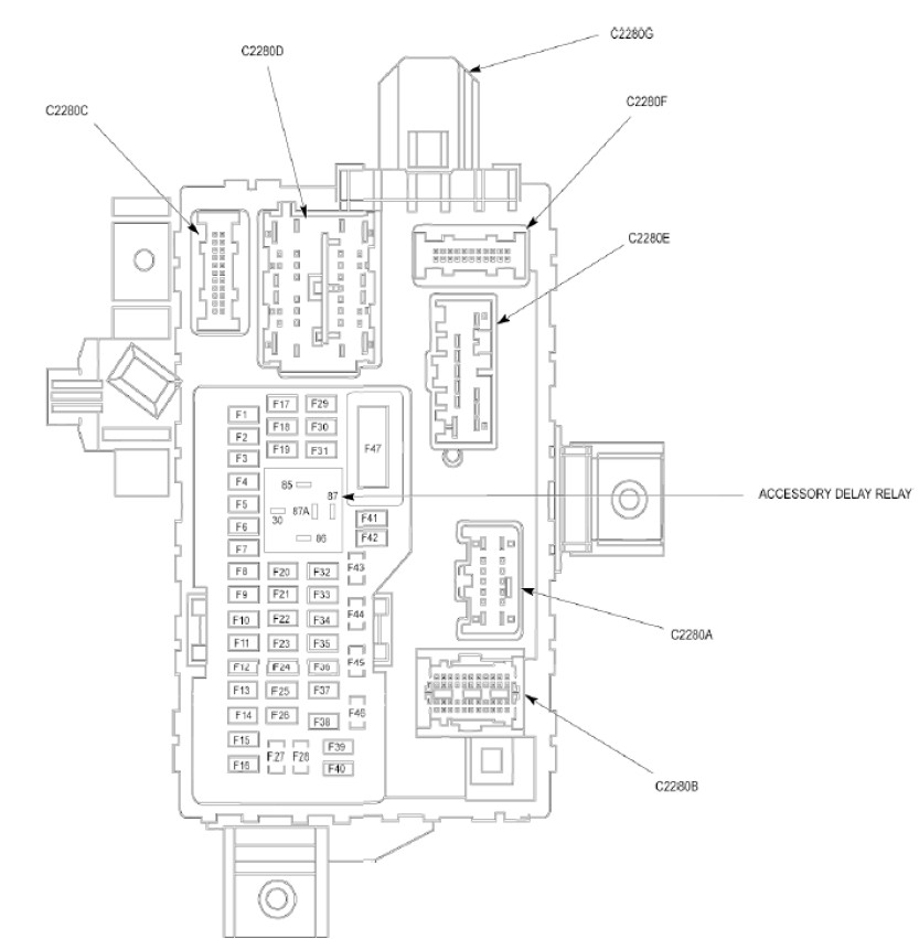 2010 Ford Explorer Fuse Diagram — Ricks Free Auto Repair
