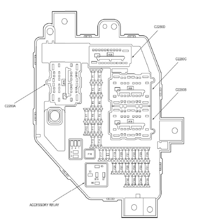 [ZXOC_9669] Ford Ranger Instrument Cluster Diagram Full