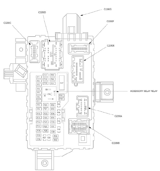 [DIAGRAM] Windstar Sel Fuse Box Diagram Interior FULL