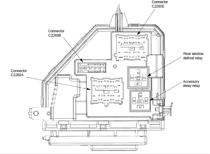 2002 Ford Explorer Sport Trac Fuse Box