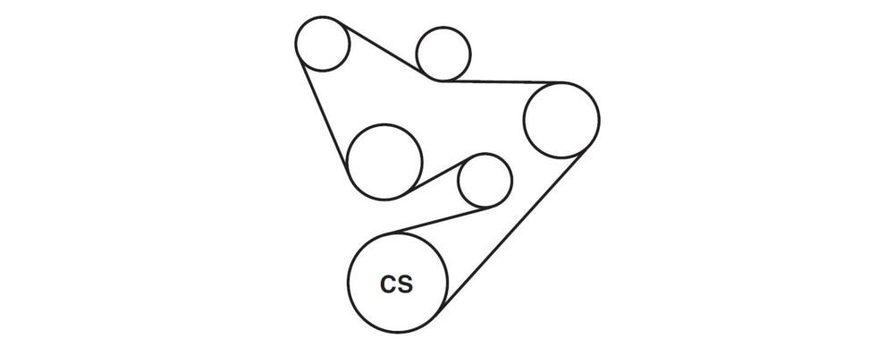 medium resolution of 2l v 6 serpentine belt diagram here s the serpentine belt diagram
