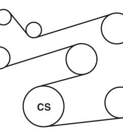 2l v 6 serpentine belt diagram here s the serpentine belt diagram 20002006 suzuki vitara belt diagram [ 3300 x 1284 Pixel ]