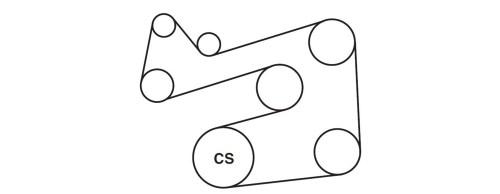 small resolution of 2l v 6 serpentine belt diagram here s the serpentine belt diagram 20002006 suzuki vitara belt diagram
