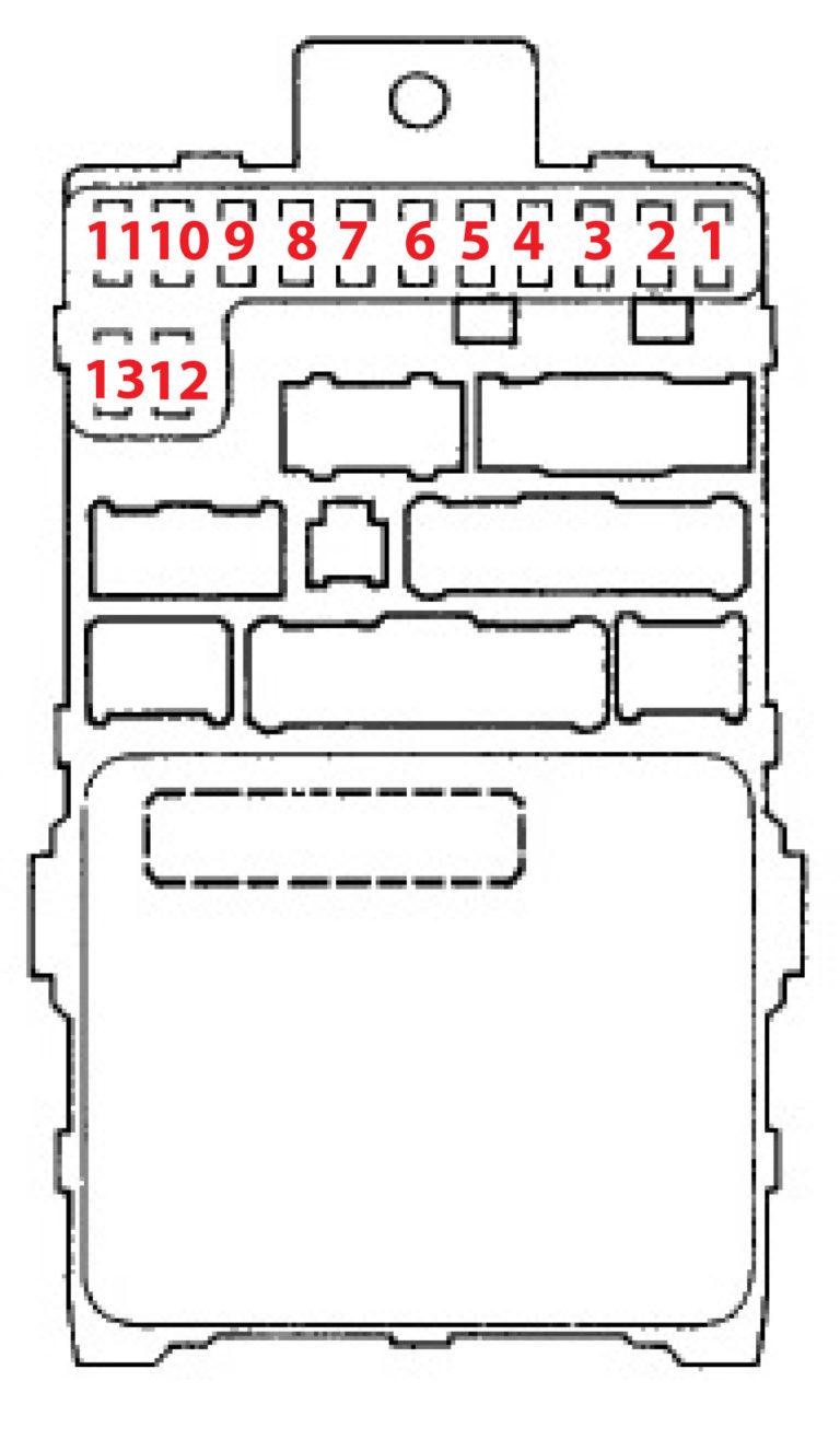 1999 Honda Accord Fuse layout — Ricks Free Auto Repair