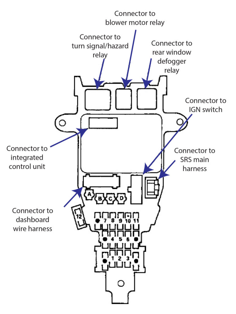 Wiring Diagram : 1996 Honda Civic Radio Wiring Diagram