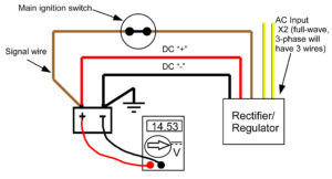 rectifier wiring diagram 1996 ford explorer transmission recitifer regulator signal wires rick s motorsport electrics blog to illustrate here a showing full wave with wire operating properly