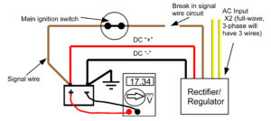kz1000 wiring diagram bass guitar 2 pickups recitifer regulator signal wires rick s motorsport electrics blog the no longer has any input on wire and thus way to properly regulate battery resulting in an extreme overcharge