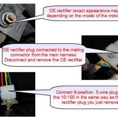 5 Wire 2009 Nissan Altima Stereo Wiring Diagram Aftermarket Honda Regulator Rectifier Oem Style Replacement Part Connecting The Disconnect 6 Position Connector From Oe Plug Identical On 10 100 In Its Place
