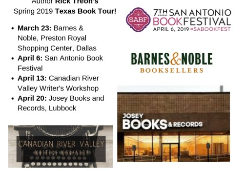 Announcing my Spring 2019 Texas Book Tour!