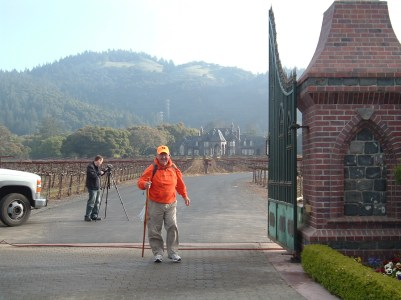 Rick Hammersley poses in front of a Sonoma Valley winery.
