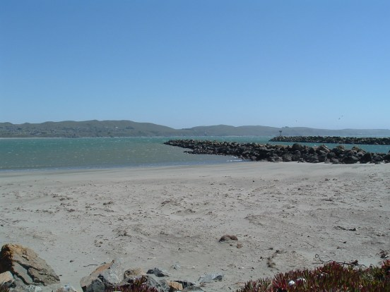 This is where the walk began, at the edge of the Pacific Ocean outside of Bodega Bay, California.
