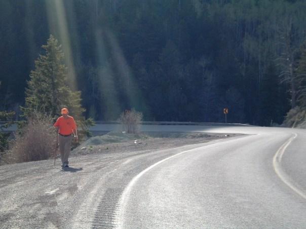 Rick Walking on Sunshine in Utah