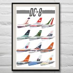 featuring some 60's and 70's tails. Tails chosen by participants of Vintage Airliners, 2014