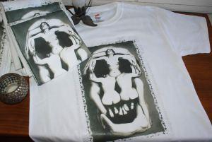 skull body sculpture art