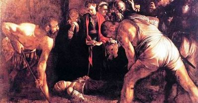 Caravaggio's burial of saint lucy in Syracuse