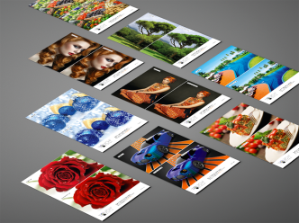 Sample cards using Touch7 technology - extended gamut for creative cloud