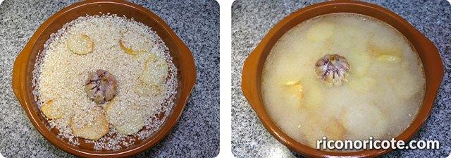 Arroz blanco al horno