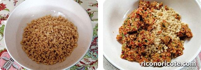 Hamburguesas vegetales con soja texturizada