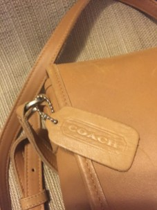 Tan Coach handbag