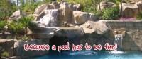 Swimming Pool Waterfall Kits - RicoRock, Inc.