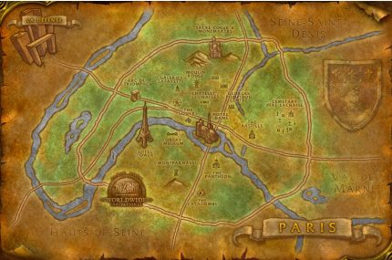 Mapa de París al estilo Wow
