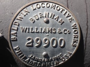 Baldwin Locomotive Works originally located in Philadelphia, PA; stopped producing locomotives in 1956.  Bankrupted in 1972.