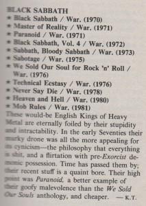 Black Sabbath Rolling Stone 1983