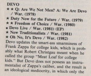 Dave Marsh on Devo..