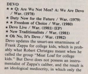 Dave Marsh on Devo..