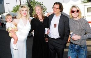 Francis Bean Cobain, Courtney Love, Rosemary Carroll (& husband), Kurt Cobain
