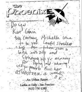 Kurt Cobain Scorns Courtney Love