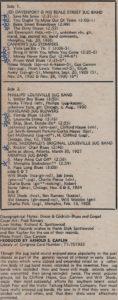 Great Jug Bands: lp credits