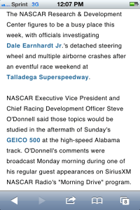 NASCAR apologists 1