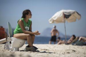Protesting Rio Olympics
