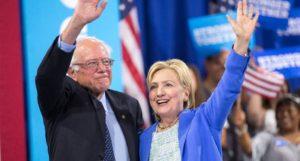 Bernie-Sanders & Hillary-Clinton_DNC 2016